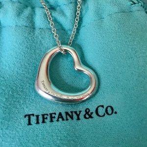 Tiffany & Co. Open Heart Elsa Peretti Necklace